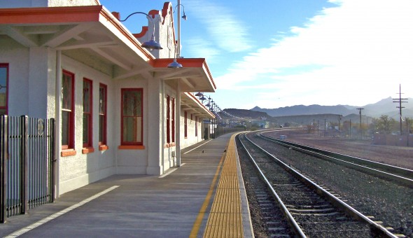 Completed Kingman train station. Photo courtesy of the City of Kingman.