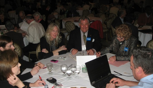 The New York State delegation preparing for Hill Visits at Advocacy Week 2012.