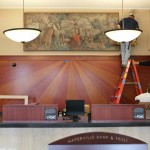 "Mural in Main Entry ""After,"" Naperville Post Office, Photo by JLA Architects, 2012."