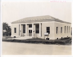 Historic Image of the Naperville Post Office.