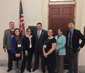 Members of the the North Carolina Delegation from University of North Carolina Greensboro during Advocacy Week 2013, pictured here with Representative Richard Hudson.