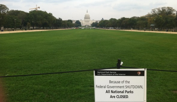 The National Park Service has closed the Washington National Mall since October 1, 2013. Picture by Crystal Sanchez.