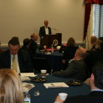 Rep. Earl Blumenauer gives an inspiring message to delegates before hitting the Hill.