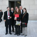 The NYS delegation outside of the Rayburn Office Building.