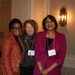 PA President, Darlene Taylor, with Brenda Barrett, and the Wall Street Journal's Constance Mitchell-Ford.