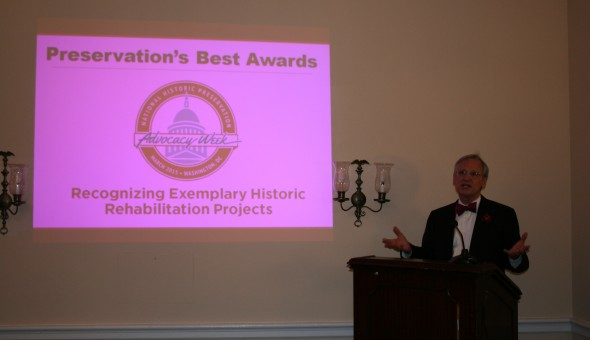 Rep Blumenauer giving brief remarks at the 2015 Preservation's Best Awards