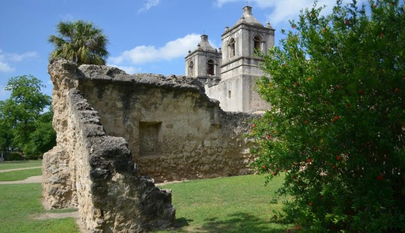 Mission Concepción, ca. 1731, one of five Franciscan Missions of the National Historical Park and World Heritage List. Photo by Meagan Baco